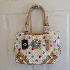 White Multi Color Handbag Anne Klein ?